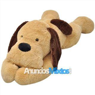 Perro de peluche marrón 80 cm
