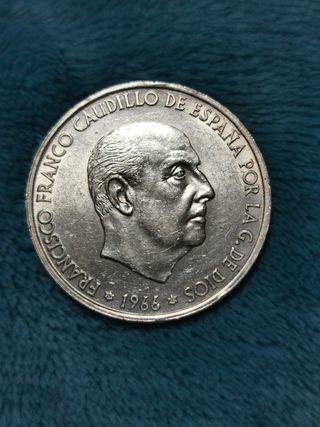 100 pts de plata 1966*68 España