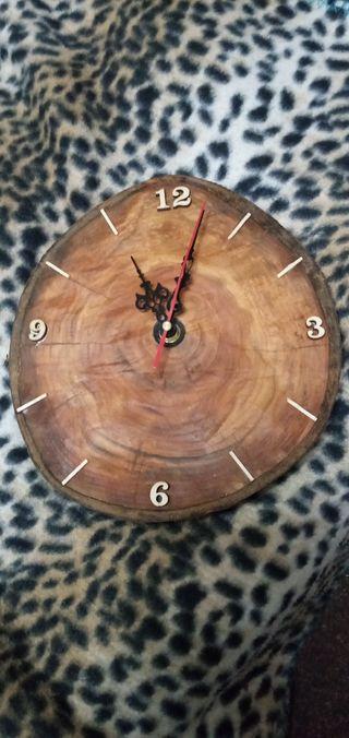 Reloj pared artesano