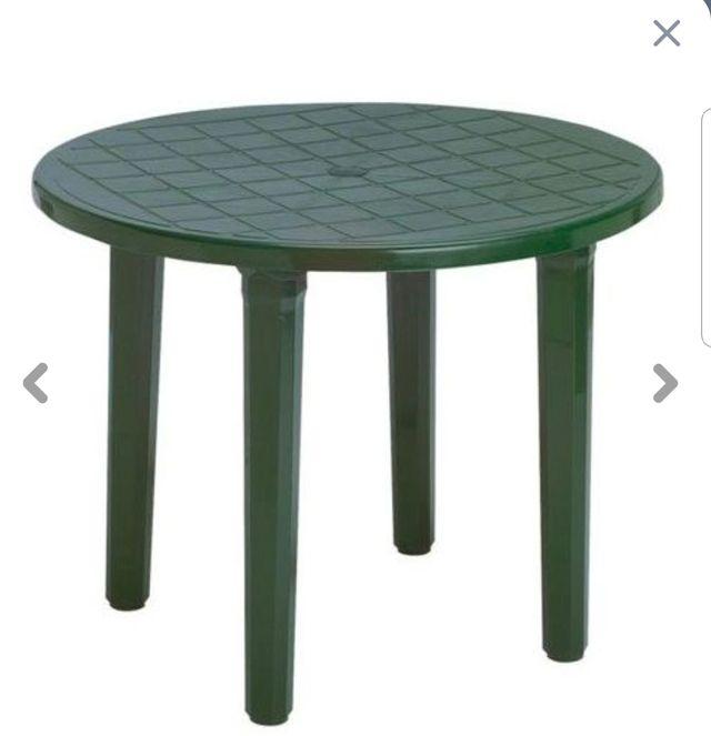 mesa de jardin plástico, 90cm diametro