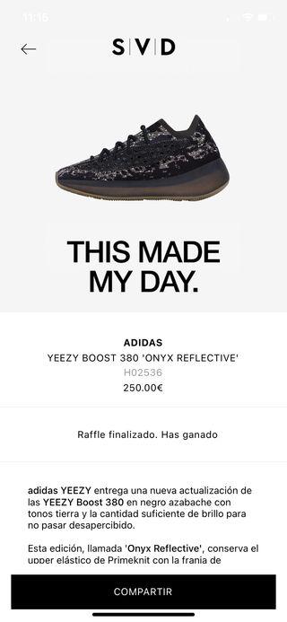 Yeezy boost 380 onyx reflective 46eur