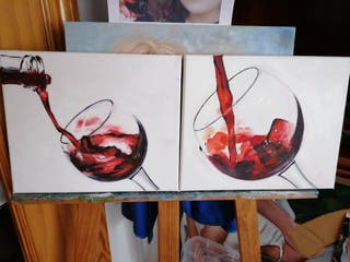 Cuadros copas de vino