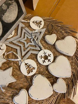 Adornos navidad árbol blancos