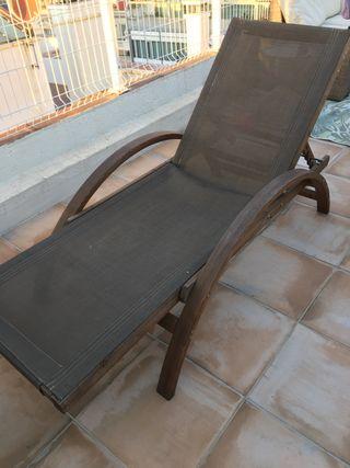 Tumbona, silla de jardin noble madera
