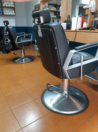sillas de peluquería más sofá más lavacabeza