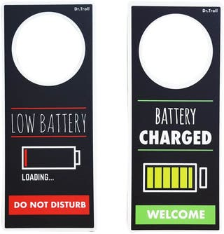 COLGADOR PARA POMOS LOW BATTERY-BATTERY CHARGED