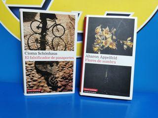 2 libros Falsificador Pasaportes-FLORES DE SOMBRAS