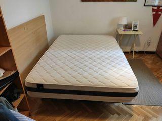 Colchón viscolástico 135x190cm + base tapizada
