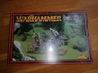 Carro de Tiranoc de warhammer precintado