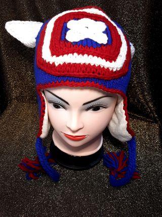 kids hat cartoon characters handmade of wool 30x20