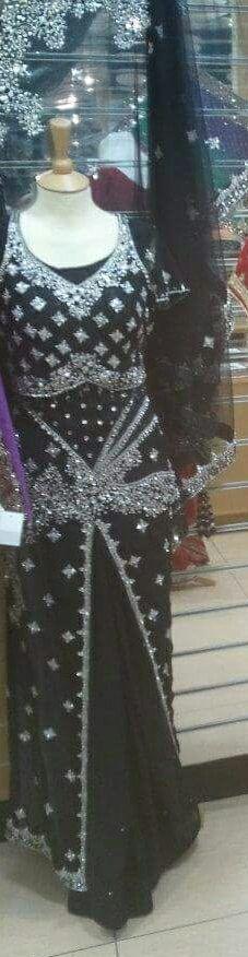 Beautiful Black Saree Lengha