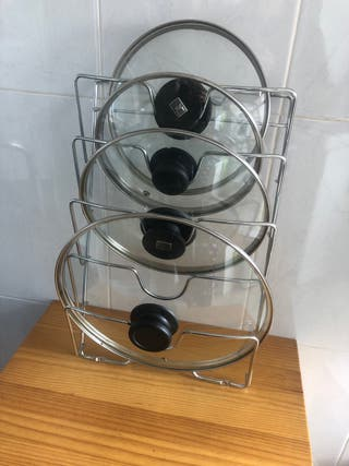 Organizador de tapas de olla
