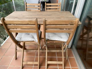 Mesa de jardín y 4 sillas Askholmen Ikea