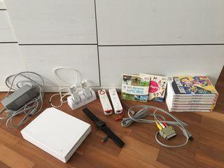 Consola Wii con mandos y accesorios