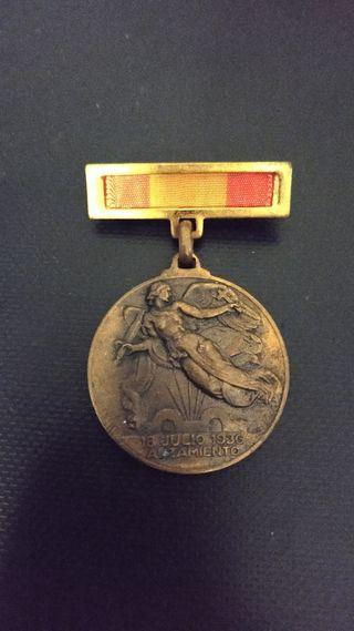Medalla original guerra civil española