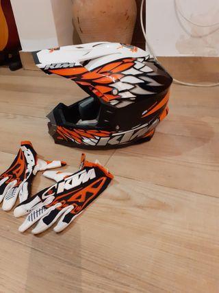 cross guantes y casco