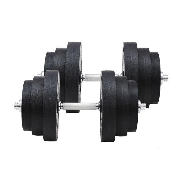 Juego de Mancuernas Pesas de Fitness 40KG Ajustabl