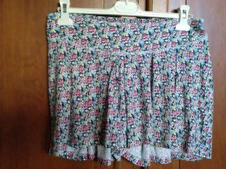 Falda pantalon de florecitas T XL
