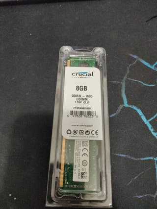 Tarjeta memoria ram 8GB Crucial