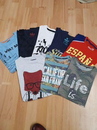 Lote de 8 camisetas