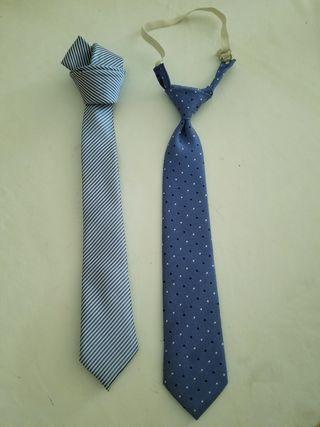 corbatas niño 9 años tonos azules