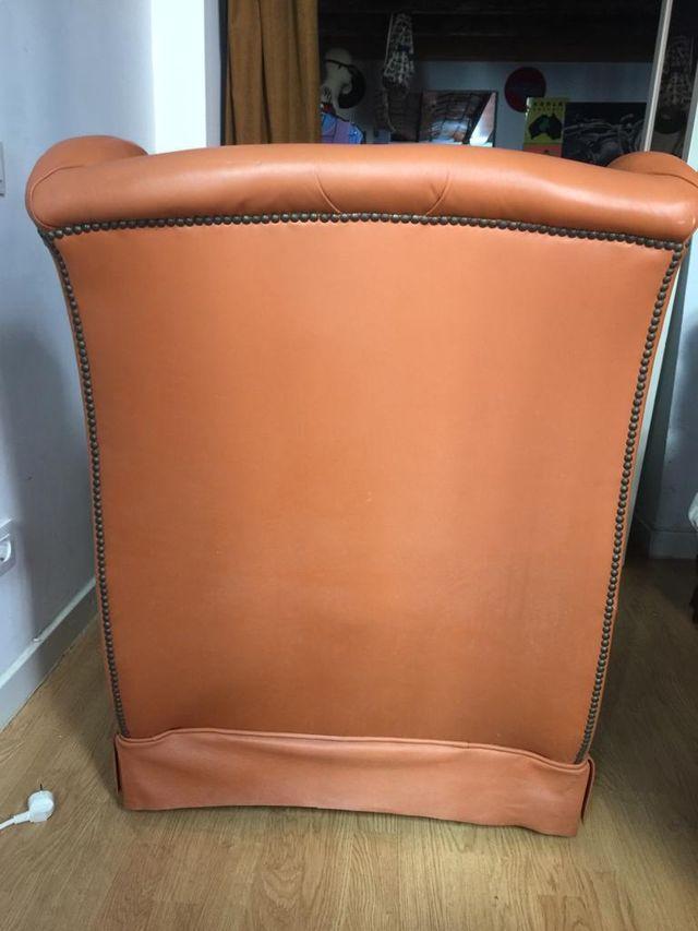asiento de piel vintage