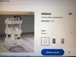 Carrito Raskog ikea