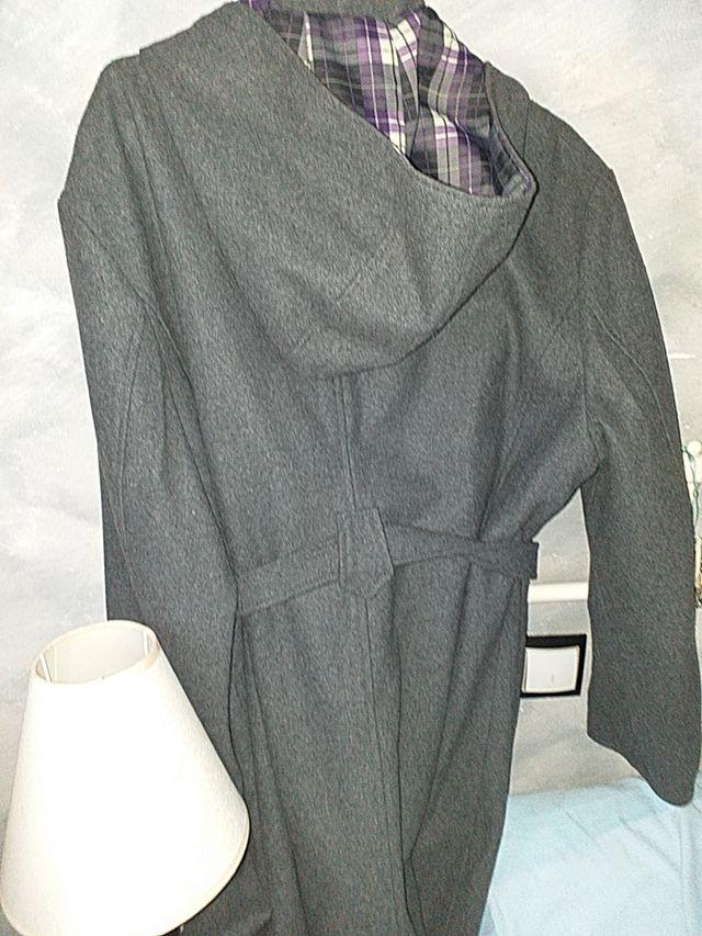 abrigo paño gris
