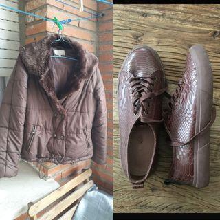 abrigo talla l y zapatillas talla 38