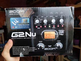 Zoom G2/Nu Pedal de efectos e interfaz de audio pc