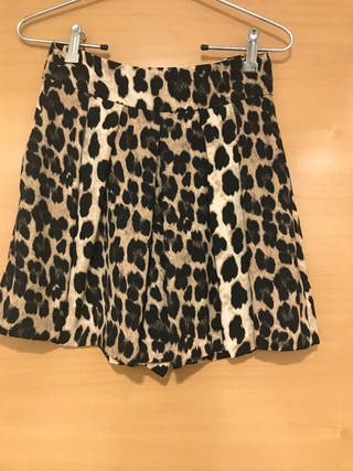 Falda - pantalón animal print Talla S