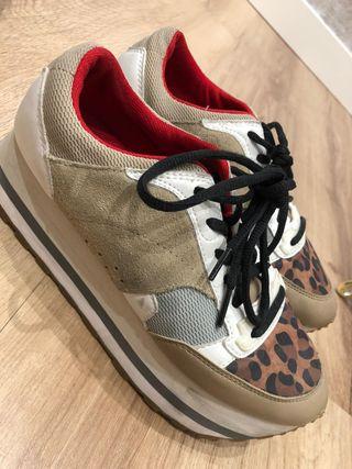Zapatillas Zara de mujer. Como nuevas, Talla 37