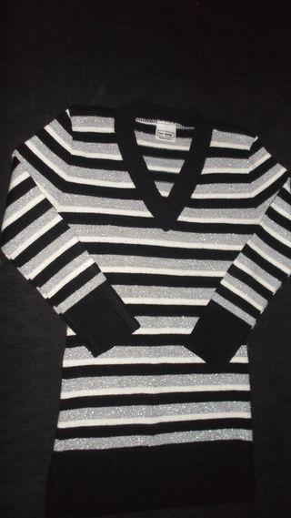 Jersey de lana con brillos Mujer