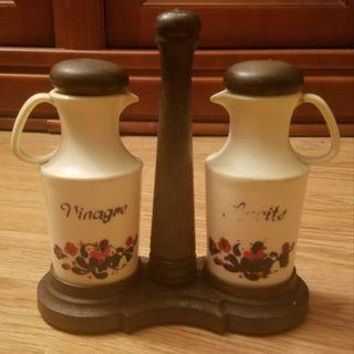 bote aceite y vinagre vintage