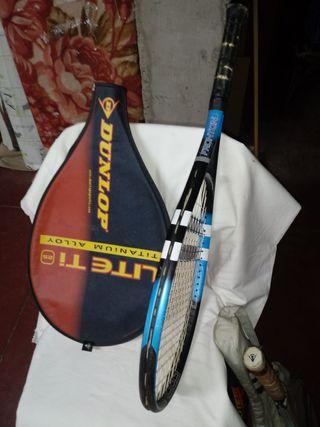 Pack de 4 raquetas tenis DUNLOP 400i con fundas