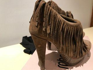 Botas fluxa camel on flecos 38