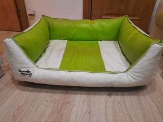Sofá cama de piel sintética para perro grande