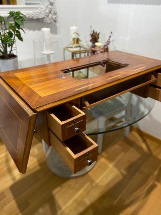 Mueble de antigua máquina coser de 5 cajones