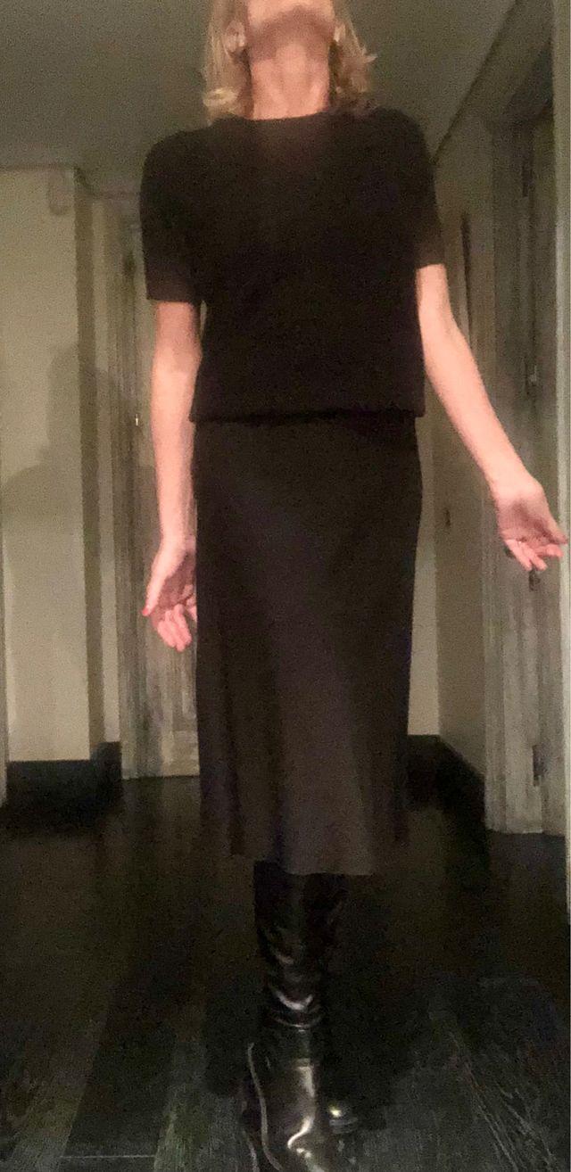 Falda negra PRADA