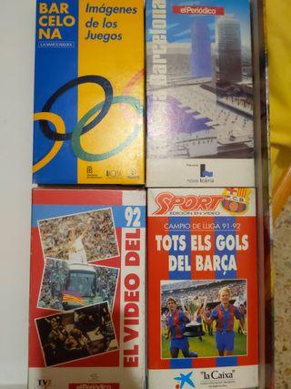 LOTE VHS VARIOS FCB BARCELONA JJOO