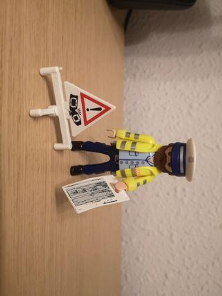 policía de tráfico playmobil