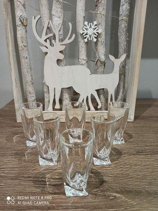Vasos cristal de Bohemia.