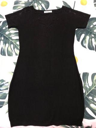 Vestido Negro Punto T.M