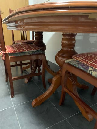 Mesa comedor madera 6 personas