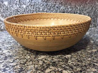 Cuenco frutero de bambu
