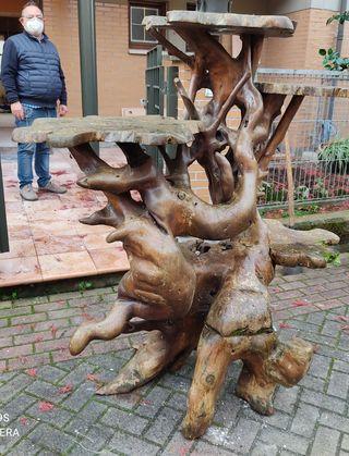 escultura madera teka