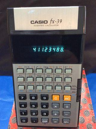 CALCULADORA CASIO FX 39 VINTAGE ¡¡AÑOS 70!!