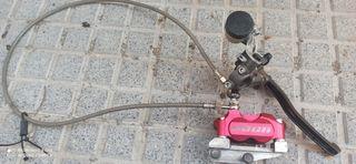 pinza y bomba radial pit bike