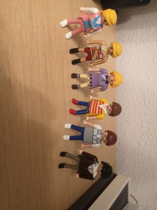 6 playmobil lote chicos y chicas
