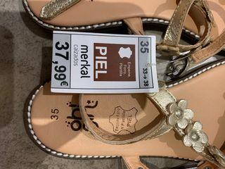 Sandalias de piel para niña